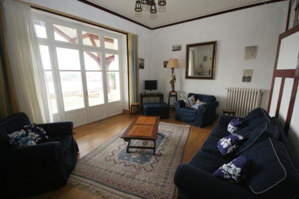 Vakantiehuis Grand Sable - Frankrijk - Bretagne - 16 personen - woonkamer